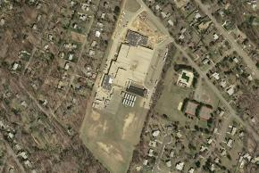 Aerial Shot of Holmes Middle School circa 2002.