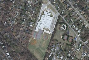 Aerial Shot of Holmes Middle School circa 2009.