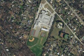 Aerial Shot of Holmes Middle School circa 2017.